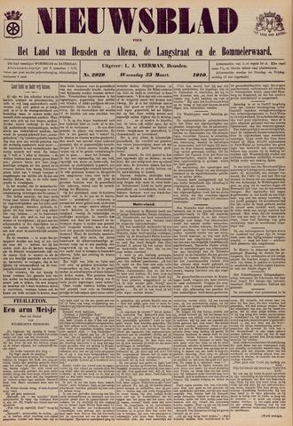 Nieuwsblad het land van Heusden en Altena de Langstraat en de Bommelerwaard 1910-03-23