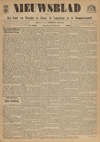 Nieuwsblad het land van Heusden en Altena de Langstraat en de Bommelerwaard 1906-02-17