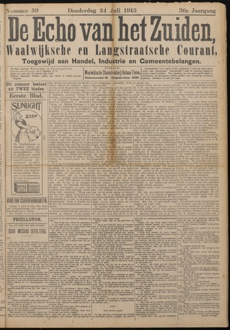 Echo van het Zuiden 1913-07-24