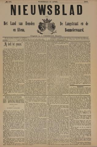 Nieuwsblad het land van Heusden en Altena de Langstraat en de Bommelerwaard 1888-04-25