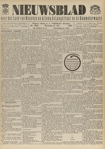 Nieuwsblad het land van Heusden en Altena de Langstraat en de Bommelerwaard 1925-05-27