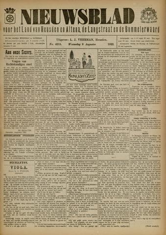 Nieuwsblad het land van Heusden en Altena de Langstraat en de Bommelerwaard 1922-08-09