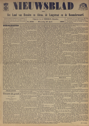 Nieuwsblad het land van Heusden en Altena de Langstraat en de Bommelerwaard 1908-04-15