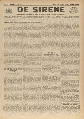 De Sirene 1945-11-19