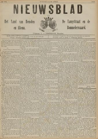 Nieuwsblad het land van Heusden en Altena de Langstraat en de Bommelerwaard 1890-04-16