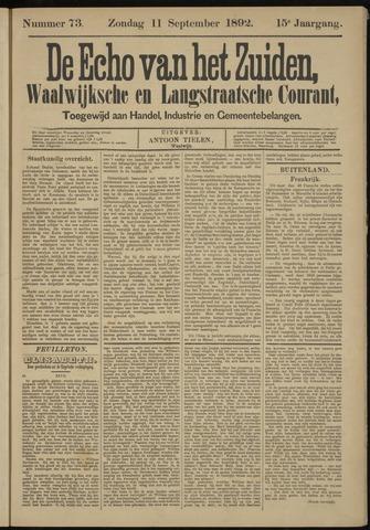 Echo van het Zuiden 1892-09-11
