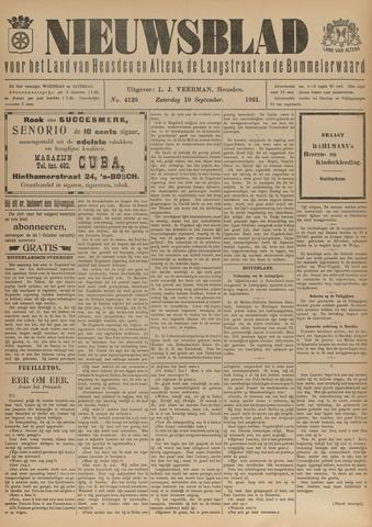 Nieuwsblad het land van Heusden en Altena de Langstraat en de Bommelerwaard 1921-09-10