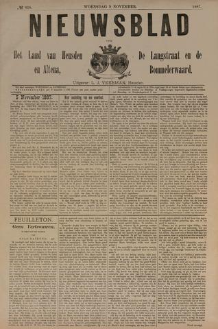 Nieuwsblad het land van Heusden en Altena de Langstraat en de Bommelerwaard 1887-11-09