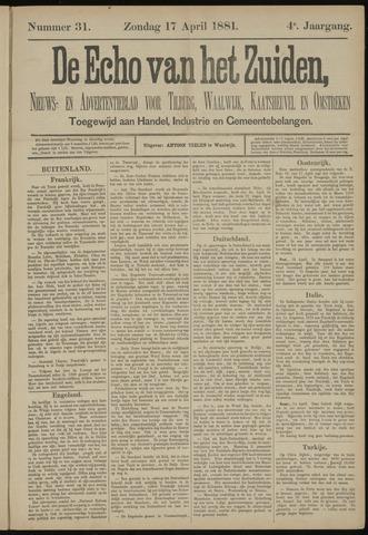 Echo van het Zuiden 1881-04-17