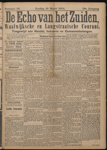 Echo van het Zuiden 1916-03-19