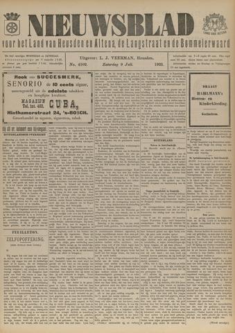 Nieuwsblad het land van Heusden en Altena de Langstraat en de Bommelerwaard 1921-07-09
