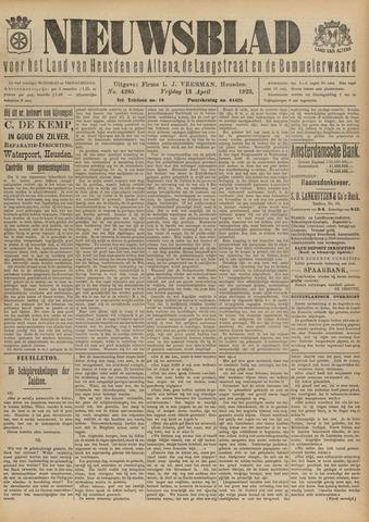 Nieuwsblad het land van Heusden en Altena de Langstraat en de Bommelerwaard 1923-04-13