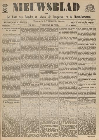 Nieuwsblad het land van Heusden en Altena de Langstraat en de Bommelerwaard 1904-02-24