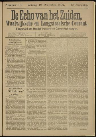 Echo van het Zuiden 1892-12-18