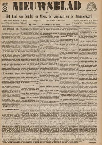 Nieuwsblad het land van Heusden en Altena de Langstraat en de Bommelerwaard 1900-04-18