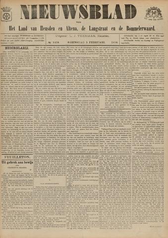Nieuwsblad het land van Heusden en Altena de Langstraat en de Bommelerwaard 1896-02-05