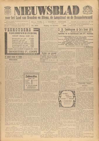 Nieuwsblad het land van Heusden en Altena de Langstraat en de Bommelerwaard 1932-10-14