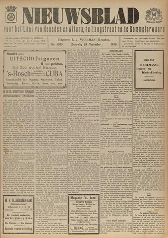 Nieuwsblad het land van Heusden en Altena de Langstraat en de Bommelerwaard 1919-11-29