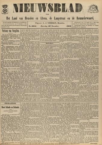 Nieuwsblad het land van Heusden en Altena de Langstraat en de Bommelerwaard 1913-11-29
