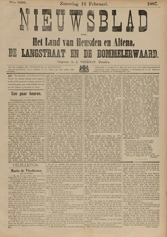 Nieuwsblad het land van Heusden en Altena de Langstraat en de Bommelerwaard 1887-02-12