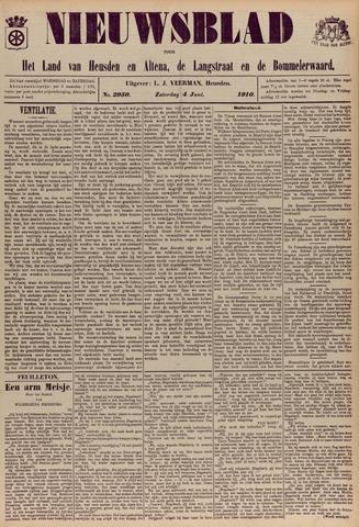 Nieuwsblad het land van Heusden en Altena de Langstraat en de Bommelerwaard 1910-06-04
