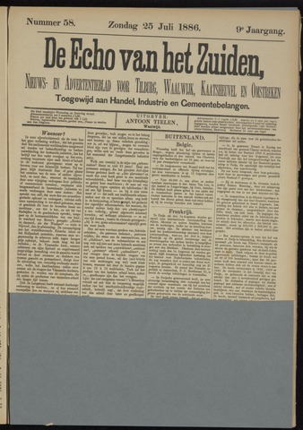 Echo van het Zuiden 1886-07-25