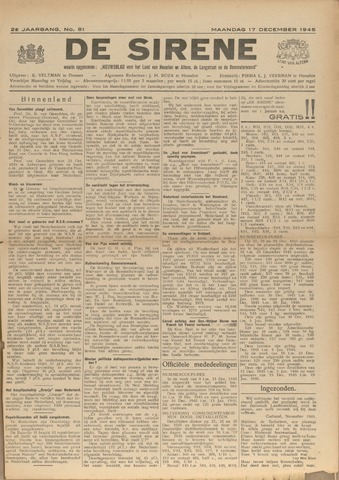 De Sirene 1945-12-17