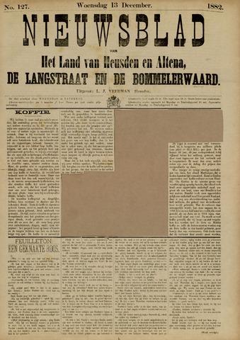 Nieuwsblad het land van Heusden en Altena de Langstraat en de Bommelerwaard 1882-12-13