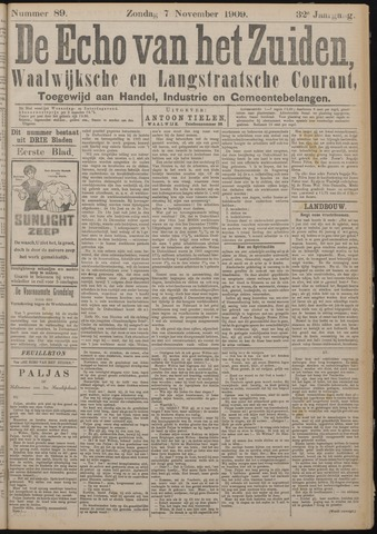 Echo van het Zuiden 1909-11-07