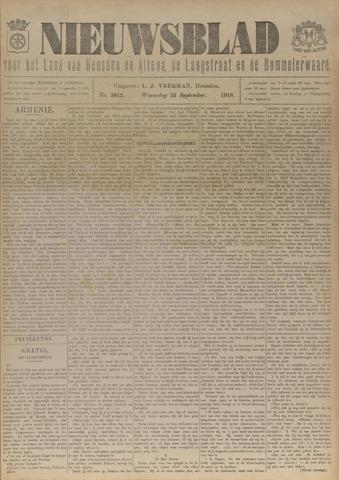 Nieuwsblad het land van Heusden en Altena de Langstraat en de Bommelerwaard 1918-09-25