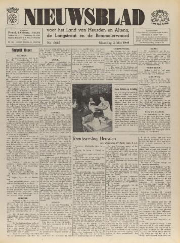 Nieuwsblad het land van Heusden en Altena de Langstraat en de Bommelerwaard 1949-05-02