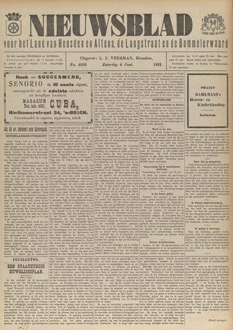 Nieuwsblad het land van Heusden en Altena de Langstraat en de Bommelerwaard 1921-06-04