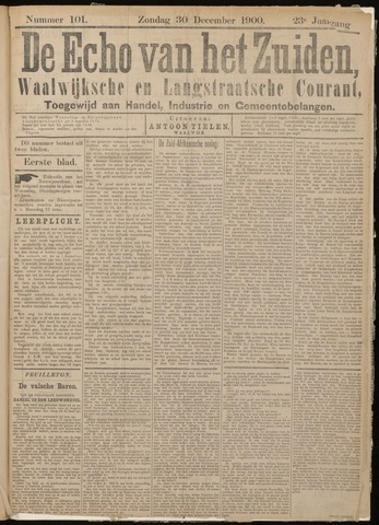 Echo van het Zuiden 1900-12-30