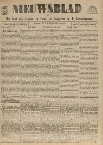 Nieuwsblad het land van Heusden en Altena de Langstraat en de Bommelerwaard 1903-01-14