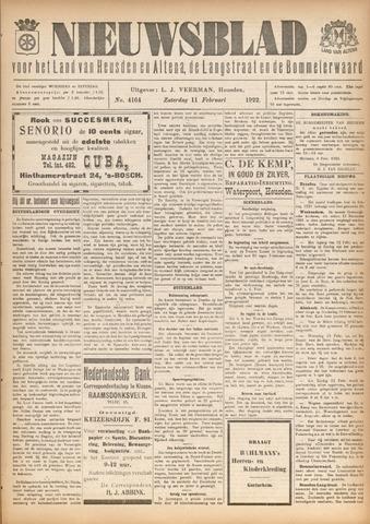 Nieuwsblad het land van Heusden en Altena de Langstraat en de Bommelerwaard 1922-02-11