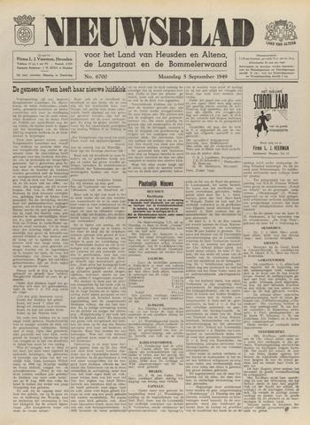 Nieuwsblad het land van Heusden en Altena de Langstraat en de Bommelerwaard 1949-09-05