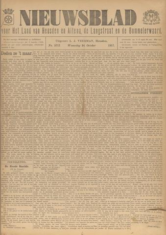 Nieuwsblad het land van Heusden en Altena de Langstraat en de Bommelerwaard 1917-10-24