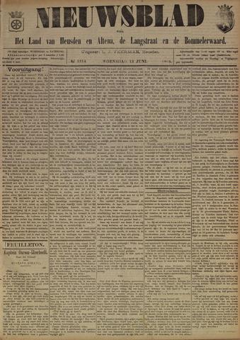 Nieuwsblad het land van Heusden en Altena de Langstraat en de Bommelerwaard 1894-06-13