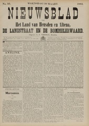 Nieuwsblad het land van Heusden en Altena de Langstraat en de Bommelerwaard 1882-03-29