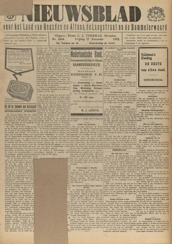 Nieuwsblad het land van Heusden en Altena de Langstraat en de Bommelerwaard 1922-11-17