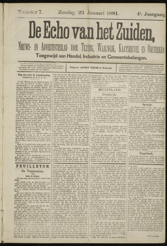 Echo van het Zuiden 1881-01-23