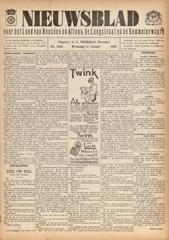 Nieuwsblad het land van Heusden en Altena de Langstraat en de Bommelerwaard 1922-01-11