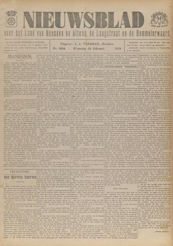 Nieuwsblad het land van Heusden en Altena de Langstraat en de Bommelerwaard 1919-02-19