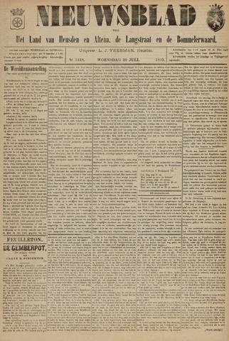 Nieuwsblad het land van Heusden en Altena de Langstraat en de Bommelerwaard 1895-07-10