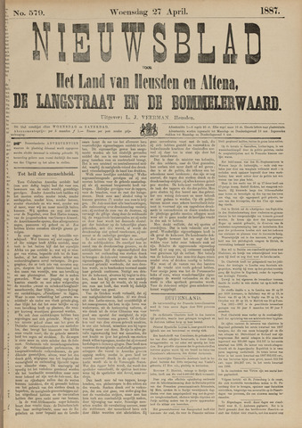 Nieuwsblad het land van Heusden en Altena de Langstraat en de Bommelerwaard 1887-04-27