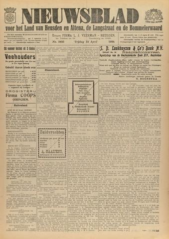 Nieuwsblad het land van Heusden en Altena de Langstraat en de Bommelerwaard 1934-04-13