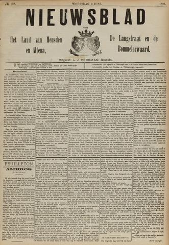Nieuwsblad het land van Heusden en Altena de Langstraat en de Bommelerwaard 1891-06-03