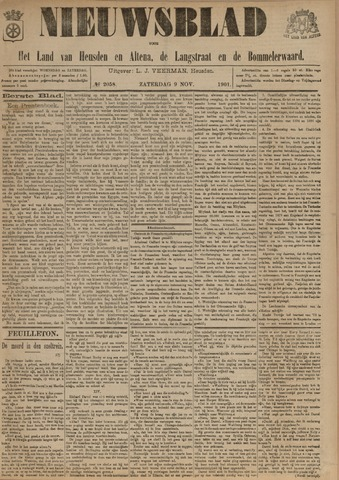 Nieuwsblad het land van Heusden en Altena de Langstraat en de Bommelerwaard 1901-11-09