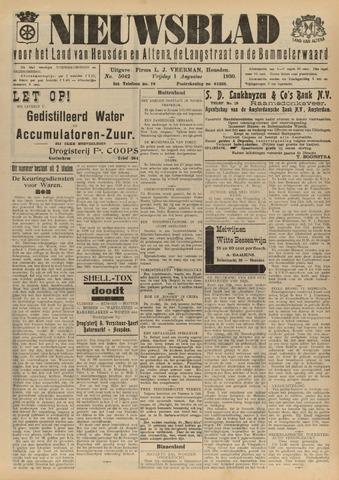 Nieuwsblad het land van Heusden en Altena de Langstraat en de Bommelerwaard 1930-08-01