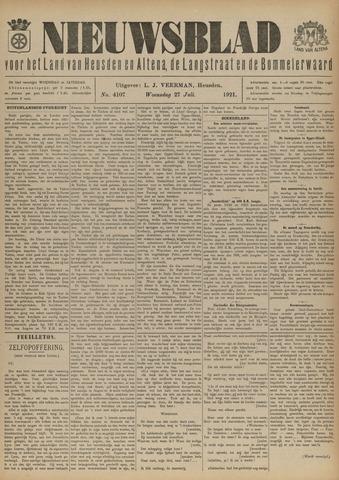 Nieuwsblad het land van Heusden en Altena de Langstraat en de Bommelerwaard 1921-07-27